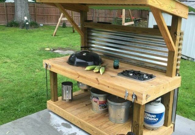 how to make an outdoor kitchen single handle pullout faucet repair upcycled pallet grill total survival