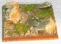 R00FB507 - 50mm square base (rough / 4 rocks)