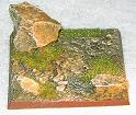 R00FB508 - 50mm square base (rough / 3 rocks)
