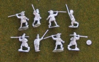 IB08  Celtiberian warriors with spear