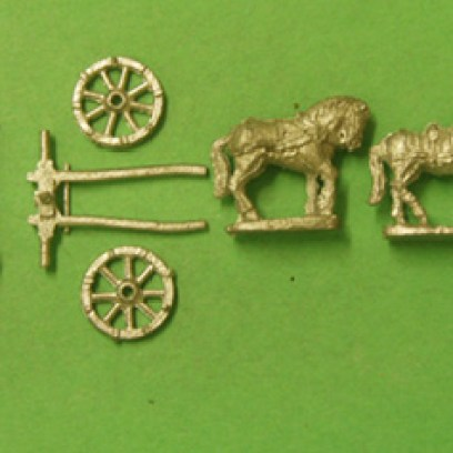 CM02 Limber, 2 Horses, & Driver, British / French 18th Century