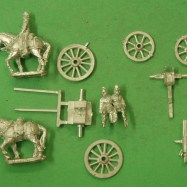 IW14 Gatling Gun on cavalry carriage, with horse & driver