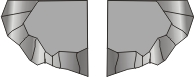 CE06 Cliff Ends - pair