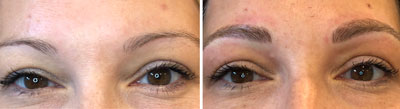 Microblading before and after picture
