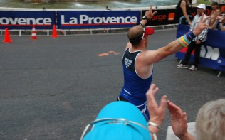 Andy finishing IM Pays D'Aix