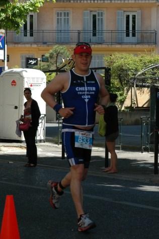 Andy Hamilton on the run course