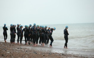 Worthing Tri 2014 swim start