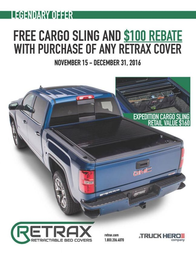 Retrax Promotion: Get $100 Back and a Free Cargo Sling