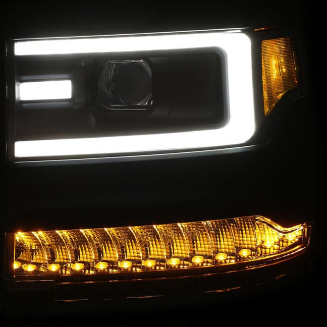 AnzoUSA (111375): Plank-Style LED Projector Headlights for '16-'17 Silverado 1500