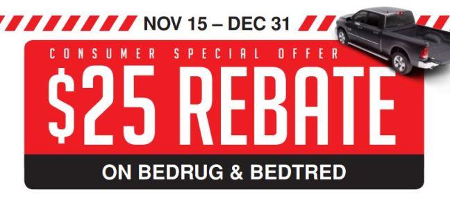 BedRug: $25 Rebate on BedRug and BedTred