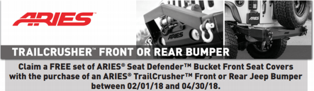 ARIES Seat Defenders with TrailCrusher Purchase