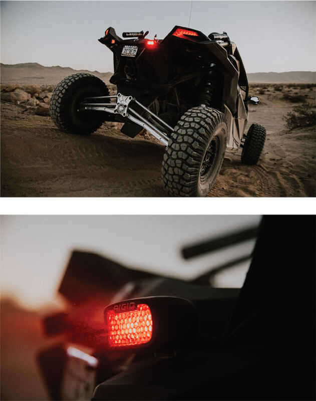 RIGID Industries: Rear-Facing High/Low Dual-Function LED Lights