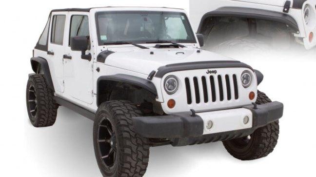 Bushwacker (10930-19): Aluminum Tube Fender Flares for 2018 Jeep Wrangler