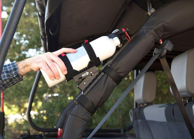 Rugged Ridge Elite Billet Style Fire Extinguisher Holder for Jeep Wrangler 11238.40