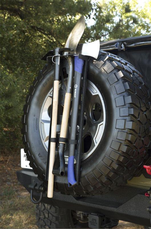 Rugged Ridge Spare Tire Tool Rack System 13551.63