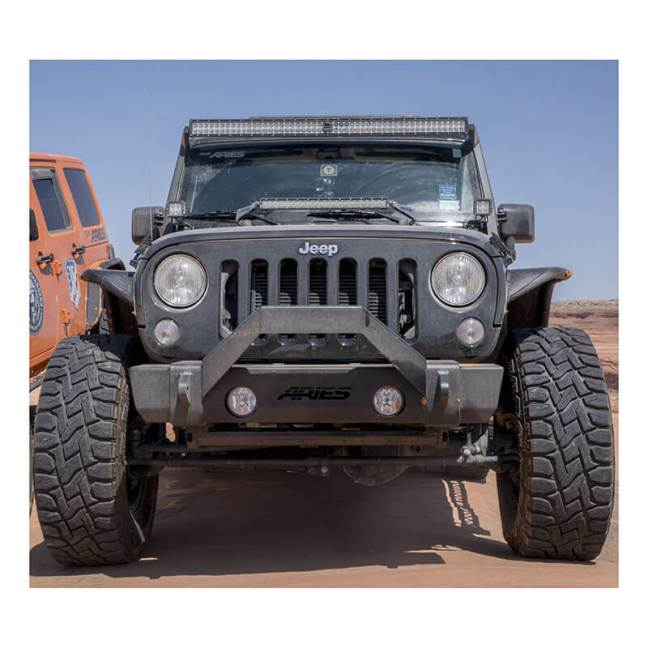 ARIES TrailCrusher Front Bumper with Brush Guards for Jeep Wrangler 2186000