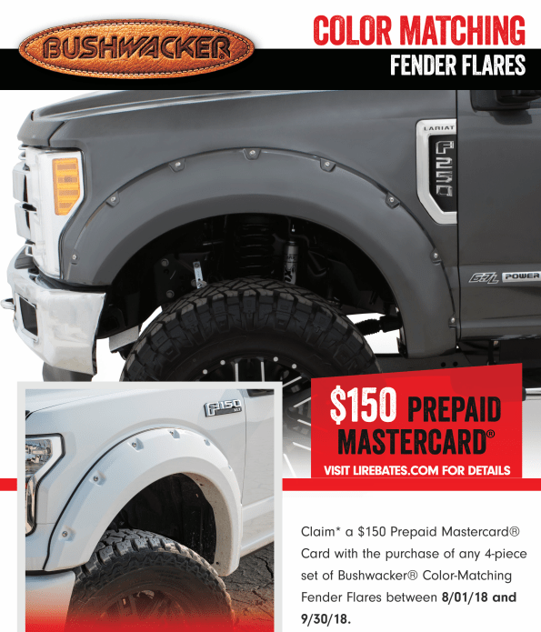 Bushwacker 150 Card on Color Match Fender Flares