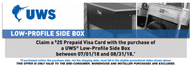 UWS: Get a $25 Prepaid Card on Low-Profile Side Boxes