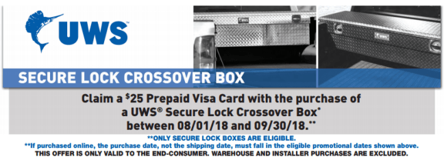UWS: Get a $25 Prepaid Card on Secure Lock Crossover Boxes