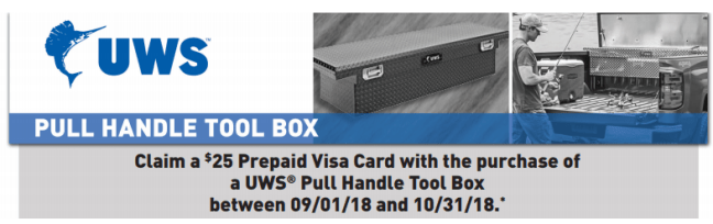 UWS: Get a $25 Prepaid Card on Pull Handle Toolboxes