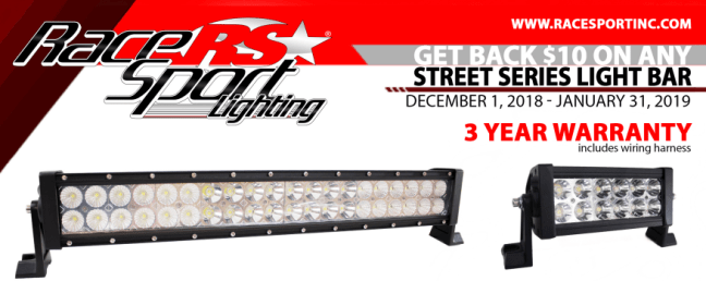Race Sport Lighting: Get $10 Back on Street Series Light Bars