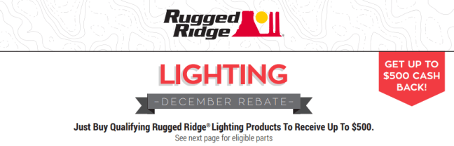 Rugged Ridge: Get Up to $500 Back on Qualifying Lighting Products