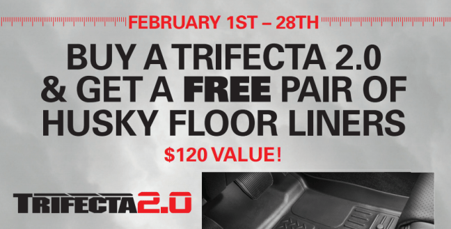 Extang: Get a Free Pair of Husky Liners Floor Liners with Trifecta 2.0 Purchase