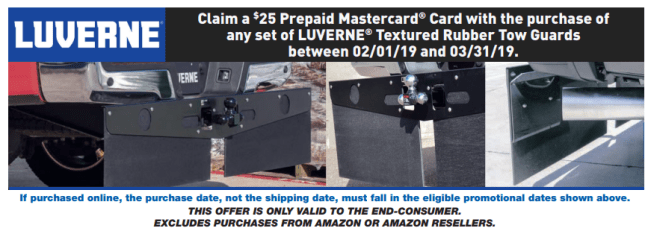 LUVERNE Truck Equipment: Get a $25 Card with Textured Rubber Tow Guards Purchase