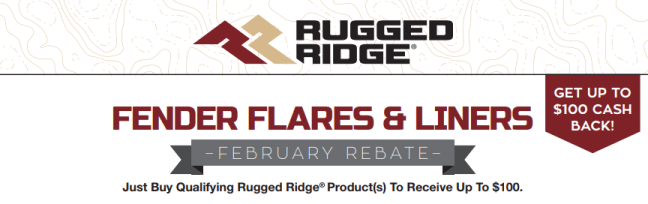 Rugged Ridge: Get Up to $100 Back on Qualifying Fender Flare and Liner Purchases