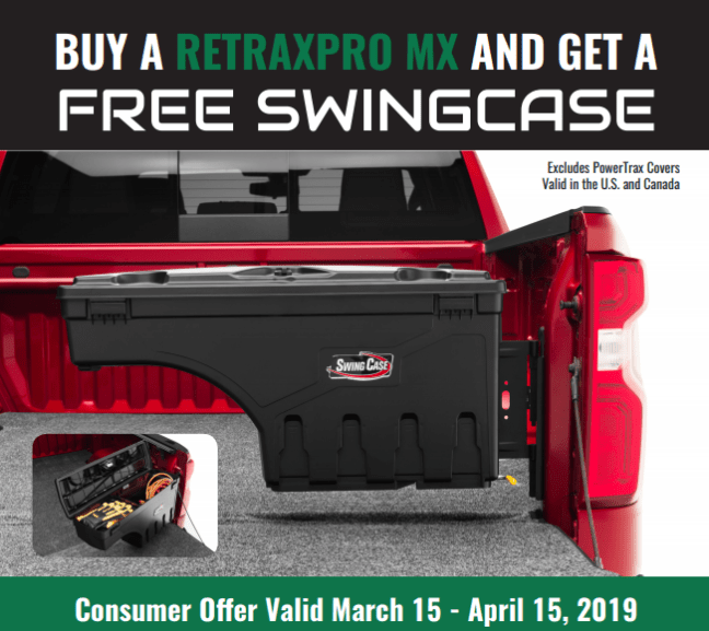 Retrax: Get a Free SwingCase with RetraxPRO MX Truck Bed Cover Purchase