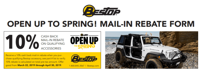 Bestop 10% Back on Qualifying Accessories
