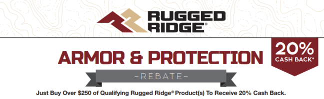 Rugged Ridge Get 20% Back on Qualifying Products