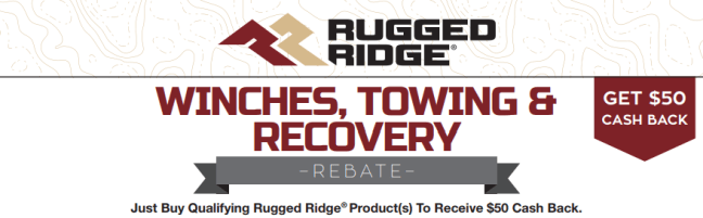 Rugged Ridge: Get $50 Back on Qualifying Winch, Towing, and Recovery Purchases