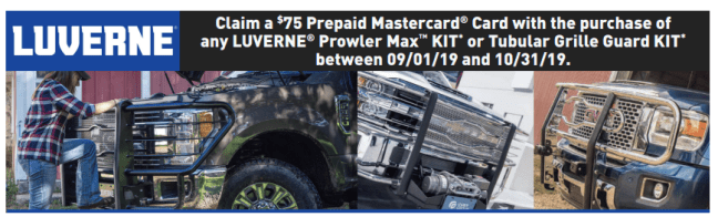 LUVERNE: Get $75 Back on Prowler Max™ and Other Tubular Grille Guard Kits