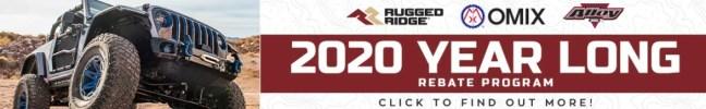 Rugged Ridge: Year-Long Rebate for 2020