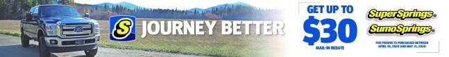 Jobber Rebate | SuperSprings Journey Better Spring Promotion