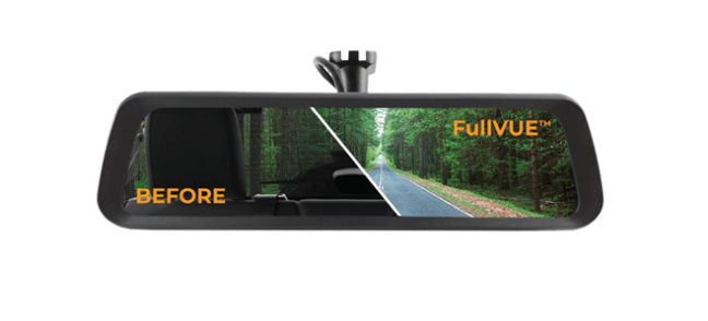 Brandmotion (FVMR-8876): FullVUE™ Rearview Camera Mirror  for `18-`20 Jeep Wrangler JL