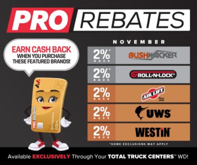 PRO Rebates: November Featured Vendors