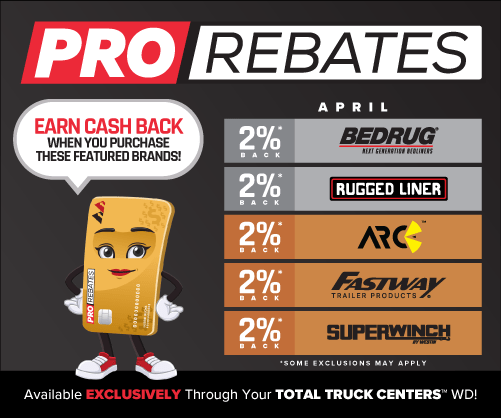 PRO Rebates: April Featured Brands