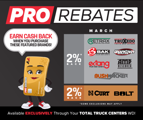 PRO Rebates: March Featured Brands