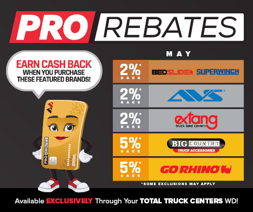 PRO Rebates: May Featured Brands