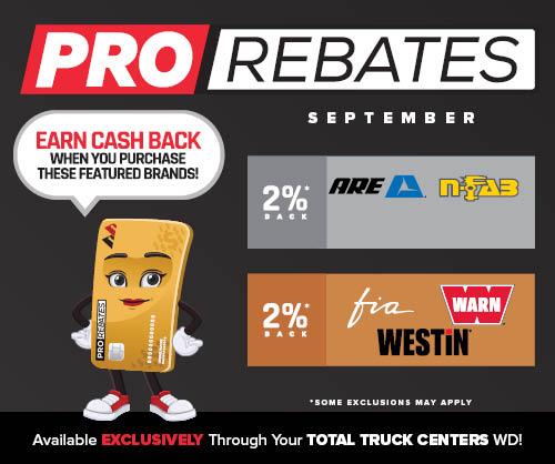 PRO Rebates: September Featured Brands