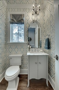 Candice Olson Wallpaper In Bathroom | TotalWallcovering
