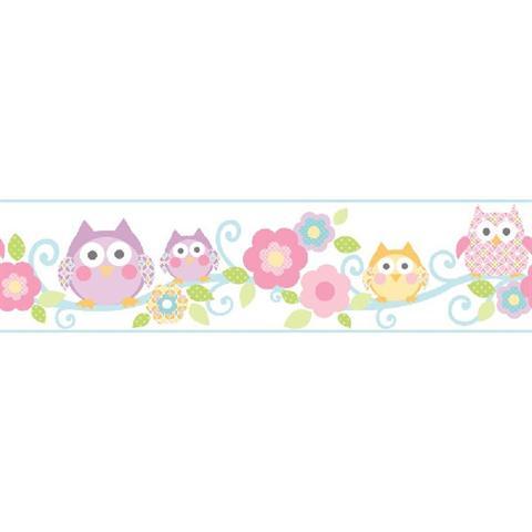 Cute Owl Wallpaper Border Ks2214bd Pastel Owl Branch Border Totalwallcovering Com