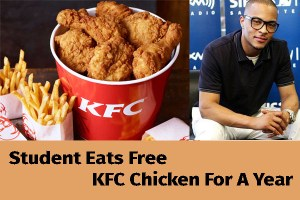 Student Arrested For Eating KFC Chicken Free For A Year