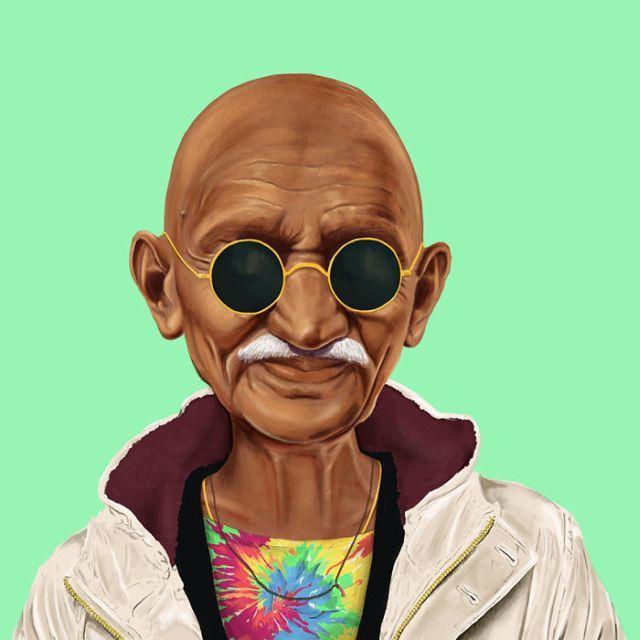 Ghandi hipster