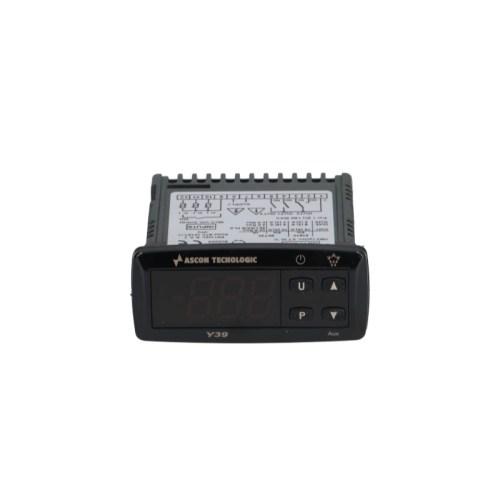Controler digital TECNOLOGIC tip Y39 dimensiuni de montaj 71x29mm 12V tensiune AC/DC