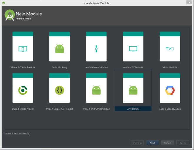 Android Studio new module