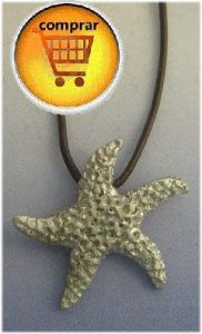 estrella de mar colgante plata