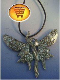 colgante hada mariposa de plata